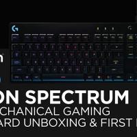 Logitech G810 Orion Spectrum RGB Mechanical Gaming Keyboard.