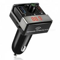harga A7 Bluetooth Hands-free Car Kit Mp3 Player Fm Transmitter Dual Usb Car Tokopedia.com