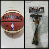 BOLA BASKET SPALDING NBA KULIT PU + POMPA BESI