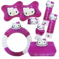Bantal Mobil Hello Kitty Ungu Car Set (6 in 1)