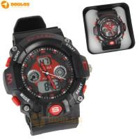 Jam Tangan Double Digital Analog Watch Lasika K Sport H9004 Red