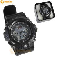 Jam Tangan Double Digital Analog Watch Lasika K Sport H9004 Grey