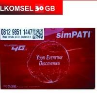Kartu Perdana Simpati Kuota 30gb, Telkomsel 4G 30 GB Kuota Nasional