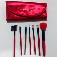 Toko Brush Set/ Kuas Make up For You isi 7 Pcs / Warna Merah / Red