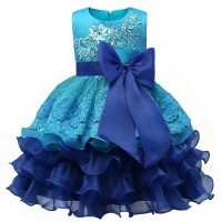 Jual Formal Wedding Ball Gown Toddler Girl Tutu dress for girls clothes Murah