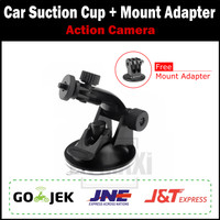 Jual Car Suction Cup Mount Holder For Action Cam / Dash Cam / Xiaomi Yi Murah