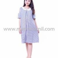 Baju Hamil Modis Dress Menyusui Katun Krah Brokat Mutiara (DRO 815)