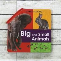 Harga buku import anak garry fleming s big and small animals fold out | antitipu.com