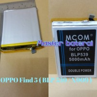 Baterai OPPO FIND 5 BLP-539 / BLP539 / X909 Double Power IC Protection