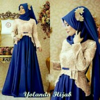 24772 Set yolanda hijab, set gamis free pashmina