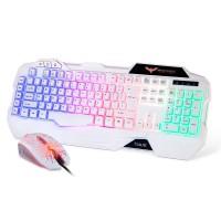 HAVIT HV-KB558CM LED Backlit Wired Gaming Keyboard Mouse Combo (Black)