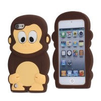 TV309 - MONKEY 3D SILICONE CASE IPOD TOUCH 5 / 6 BROWN