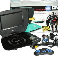 "GMC DVD PORTABLE + TV 7"" DIVX-808Q - Hitam"