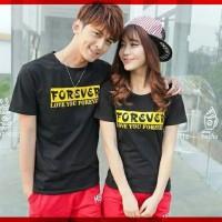 Baju Kaos TShirt Couple Forever Hitam dan Putih
