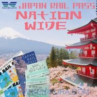 7 Days GREEN JR Pass Japan Rail tiket kereta Jepang Child shinkansen