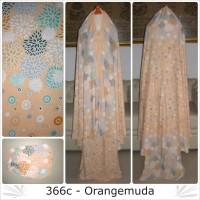 Jual Mukena bali dewasa katun rayon motif 366C semi jumbo orangemuda Murah