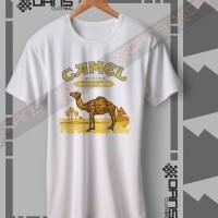 Kaos Cowok Camel Cigarettes Vintage Logo - Tshirt - T shirt