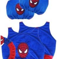 Bantal Mobil Sarung Cover Jok Spiderman Blue