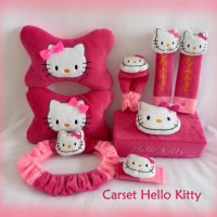 Bantal Mobil Hello Kitty Pink Car Set (6 in 1)