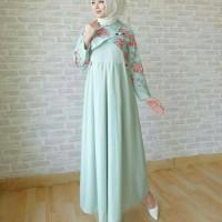 Dress hijaber trendy kekinian style muda slebgram kualitas butik