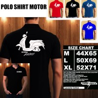 Polo Shirt Motor Baju Kaos Kerah YAMAHA GRAND FILANO SILUET TS