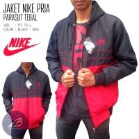harga Jaket Nike Pria Bahan Parasut Tebal Murah Warna Hitam Merah Hoodie Tokopedia.com