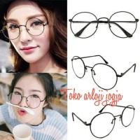 kacamata / sunglasses / frame pria & wanita gaya korea bulat besar