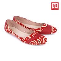 harga Sepatu Jj Flat Motif Batik Maroon (07910674) Tokopedia.com