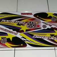 striping/sticker variasi yamaha RX KING airbrush grafis star