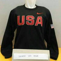 sweater nike usa hitam basketball nba