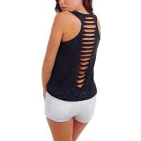 W37/Black Tanktop Shirt Pantai Fitness Import