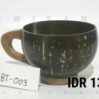 gelas cangkir teh/ cangkir kopi kerajinan batok tempurung kelapa