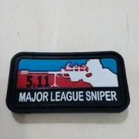 patch rubber 511 MAJOR LEAGUE SNIPER - rubber patch PVC Berkualitas