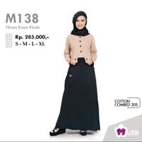 Baju Gamis Mutif Model M-138 Hitam