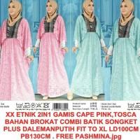 cape maxi gamis kaftan princess syahrini pesta batik xl jumbo bigsize