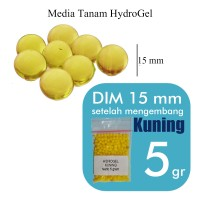 Jual Hidroponik Hidrogel / Hydrogel Warna Kuning / Yellow 5 gr Murah
