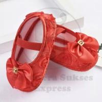 Jual sepatu bayi perempuan import firstwalker umur 0 -18 bulan pita Murah