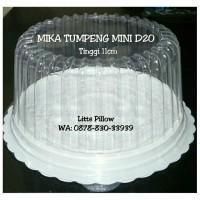 Jual Mika Tumpeng Mini D20 T10 Putih/ Mika Bolu Bulat/ Mika Kue Tart Mini Murah
