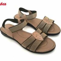 BATA Sepatu Sandal Wanita Karet Elastis Nyaman Warna Coklat & Hitam
