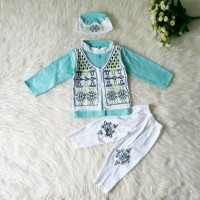 Promo Baju Muslim Koko Anak Bayi Laki Laki Tosca Rompi Peci Terlaris