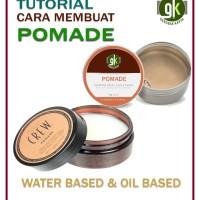 CARA MEMBUAT POMADE | Water Based & Oil Based | Tutorial
