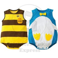 Jual jumper romper jumpsuit import laki laki perempuan lebah 7 - 9 bulan Murah