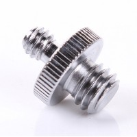 1/4 to 3/8 Dual Head Camera Mount Hot Shoe Screw