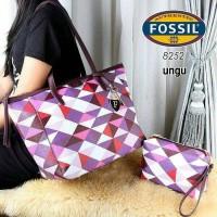 Tas Wanita FOSSIL Import / 8252 TBN (2 in 1)