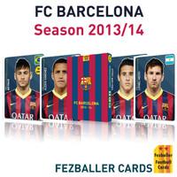 FC Barcelona season 2013-2014 Fezballer Card Kartu Sepak Bola