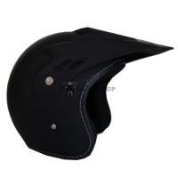 Helm JPN Racing Semi Cross Trail Touring Retro Klasik Black Doff Solid