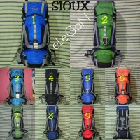 Tas Carrier Gunung Sioux 60L Ori + Random Cover Not Deuter, Kalibre SP