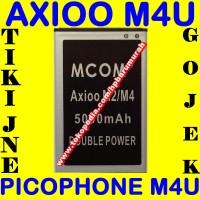 Baterai Axioo Picophone M4U MCOM M COM Batrai Batre Battery Batere