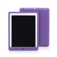 Soft Silicon for iPad 2|3|4 case Slim Rubber Protective cover Red | Merah