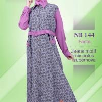 Gamis Nibras NB 144 Ungu